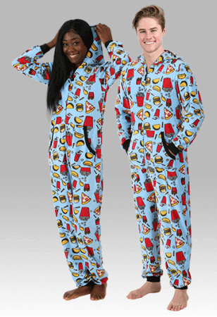 Junk food funny adult onesie