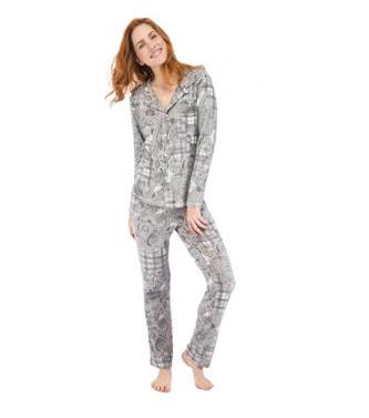 Paisley Plaid Vintage Jersey Classic Pajama Set Munki Munki