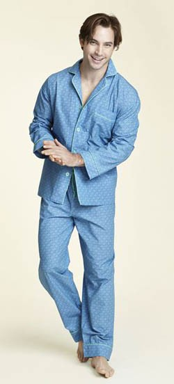 Blue Chelsea Classic Pajama Set by Bedhead