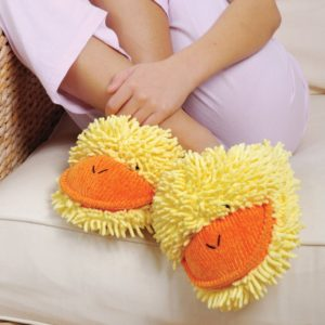 Fuzzy Friends 'Duck' Slippers by Aroma Home