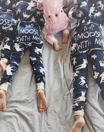 Classic Moose Flapjack Pajamas by Lazy One
