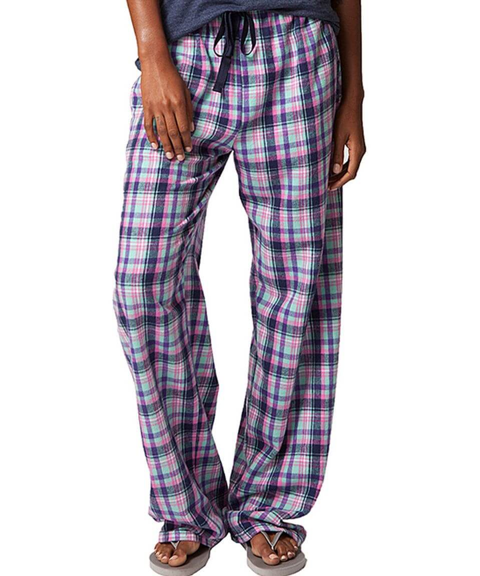 'Malibu Plaid' Unisex Flannel Pajama Pants from Boxercraft