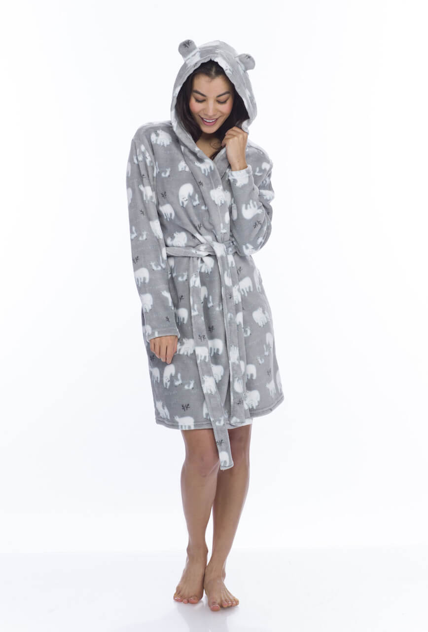 Women's Polar Bear Bathrobe