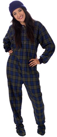 Adult Women Footie Pajamas for a Slumber Party