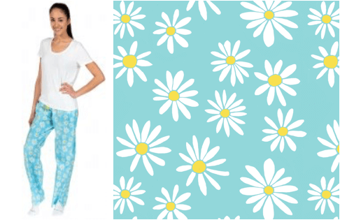 daisy pattern 100% cotton pajama pants