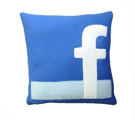 facebook pillow $28