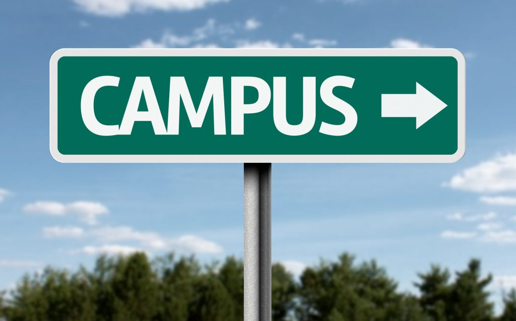 Campus creative sign