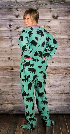 "Lazy One ""Timberland Bear"" Footy Pajamas"