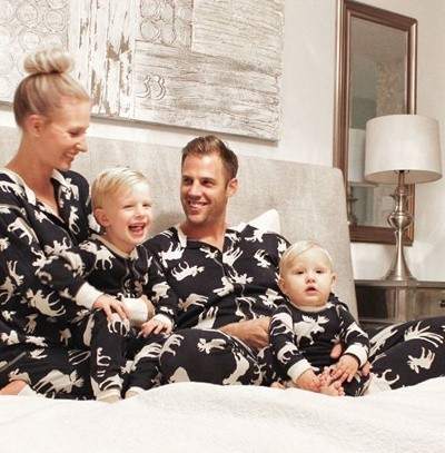 cute matching family pajamas fall