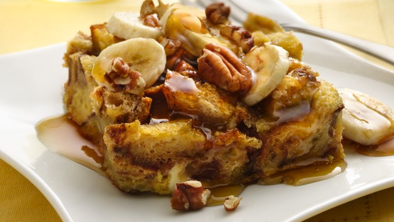 Bananas Foster Baked French Toast from Taste of Home