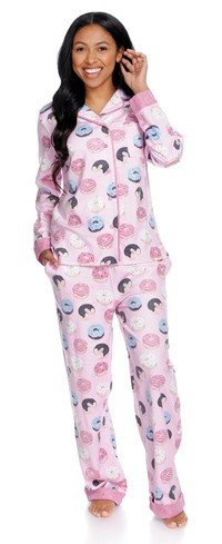 Donuts Flannel Pajama Set by Munki Munki