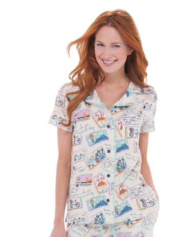 Munki Munki Postcards from Abroad Pajama Set