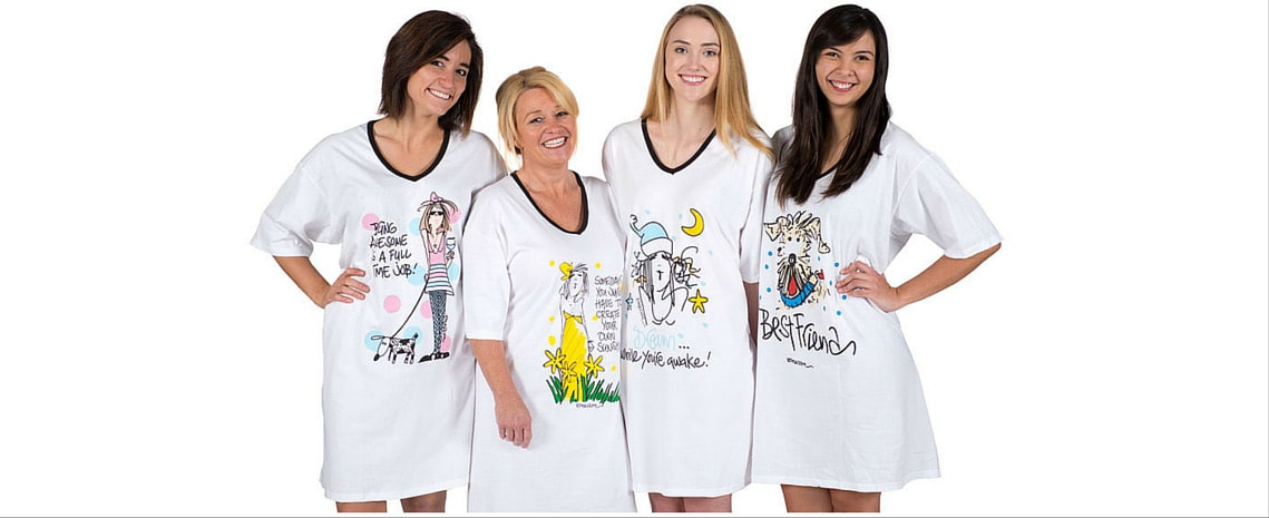 Choose from over 60 different designs from Emerson Street. We have a nightshirt sure to make you smile.