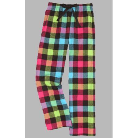 ded543527e5 Boxercraft Neon Buffalo Plaid Unisex Flannel Pajama Pant. Double tap to zoom