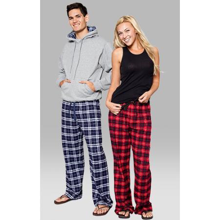 boxercraft red and black plaid unisex flannel pajama pant