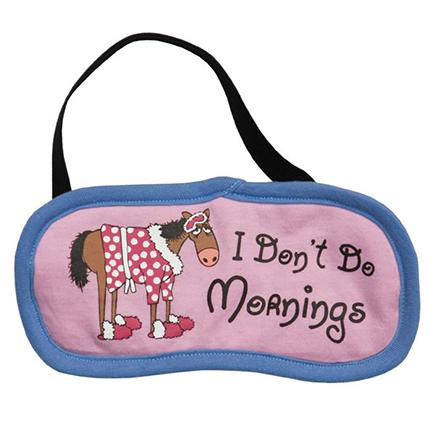 "Lazy One ""I Don't Do Mornings"" Eye Mask in Pinnk"