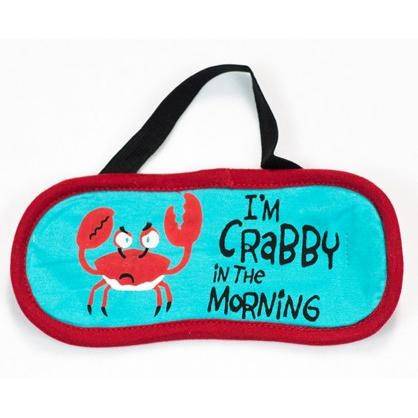 "Lazy One ""Crabby In The Morning"" Eye Mask in Red"