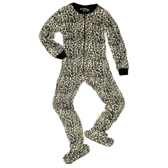 9daca90a89a5 PJ Salvage Leopard Women's Footsie. Double tap to zoom