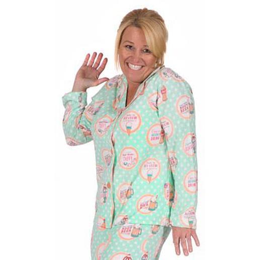 268c7c46cf PJ Salvage Women s Soda Pop Playful Print Cotton Pajama Set in Mint
