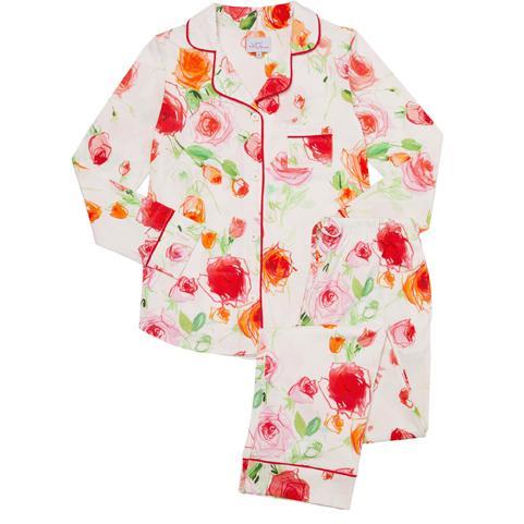 629369eb9 The Cat's Pajamas Women's Tossed Roses Pima Knit Pajama Set