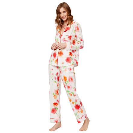 73202178b The Cat's Pajamas Women's Tossed Roses Pima Knit Pajama Set. Double tap to  zoom