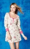 "Bedhead Women's Pink ""Ski Bunnies"" Stretch Nightshirt"