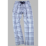 Boxercraft Carolina Blue and Navy Unisex Plaid Flannel Pajama Pant