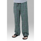 Boxercraft Green and Black Unisex Flannel Plaid Pajama Pant