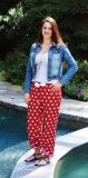 Boxercraft Women's Flannel VIP Red Polka Dot Flannel Pajama Pant