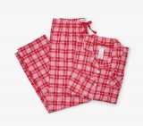 Little Blue House by Hatley Retro Christmas Plaid Women's Classic Pajama Set