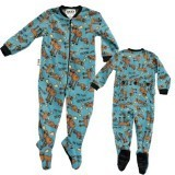 "Lazy One ""Don't Moose With Me"" Kids Footie in Blue"