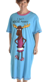 "Lazy One ""I Don't Moose Around!"" Nightshirt in Blue"