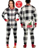 Lazy One Adult Unisex Plaid Tailgate FlapJack in Black and White