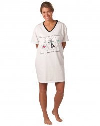 Emerson Street Winter Snow Angel Dog Holiday Nightshirt