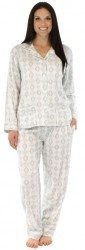 "bSoft Women's ""Grey Elegance"" Bamboo Flannel Pajama Set"