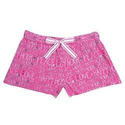 "Be As You Are Women's ""Peace Love & Happy Hour"" Pink Boxer"