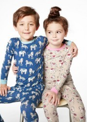 "Bedhead Kids Navy ""Three Ring Circus"" Stretch Pajama Set"