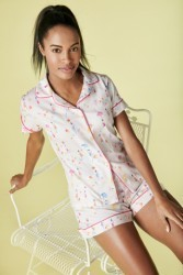 "Bedhead Women's ""Beach Babes"" Classic Stretch Shorty Pajama Set"