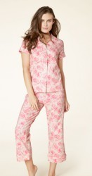 "Bedhead Women's ""Bed of Roses"" Classic Stretch Cropped Pajama Set"