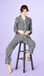 Bedhead Women's Black Gingham Cotton Classic Pajama Set