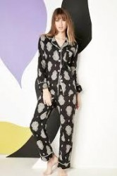 "Bedhead Women's Black ""Paisley Palace"" Classic Voile Pajama Set"