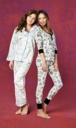 "Bedhead Women's ""Blue Alice Toile"" Classic Sateen Pajama Set"