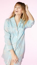 "Bedhead Women's ""Blue Flower Bouquet"" Voile Classic Nightshirt"