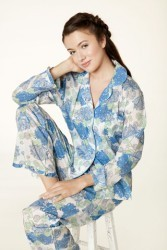 "Bedhead Women's ""Blue Mum's Favorite"" Classic Voile Pajama Set with Ruffle"
