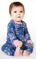 Bedhead Boo Boo Navy Painted Damask Stretch Set