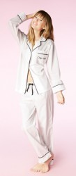 "Bedhead Women's ""Carpe Nuit "" Embroidered Cotton Classic Pajama Set"