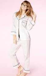 "Bedhead Women's ""Zzz"" Embroidered Cotton Classic Pajama Set"