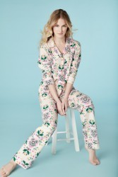 "Bedhead Women's ""Folk Floral"" Classic Stretch Pajama Set"