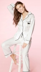 "Bedhead Women's ""Graduation"" Embroidered Classic Cotton Pajama Set"