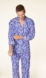 "Bedhead Men's ""Blue Eiffel"" Classic Stretch Pajama Set"